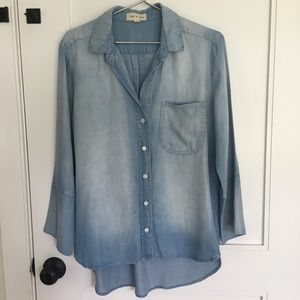 Cloth & Stone Faded Chambray Hi-low Button-up
